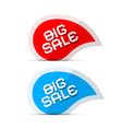 Paper Big Sale Icons Isolated on White Background vector image vector image