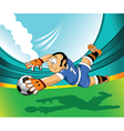 Soccer players cartoon vector image vector image