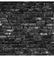 Brick wall black relief texture with shadow vector image
