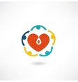 people embrace the heart icon vector image vector image