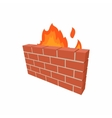 Firewall icon in cartoon style vector image