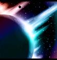 Retro space background vector image