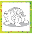 Cartoon turtle - Coloring book vector image