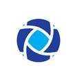 Circle swirl arrow business logo vector image