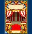 circus cartoon decoration vector image