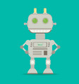 funny flat robot vector image