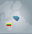 lithuania information map vector image