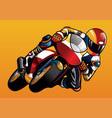 riding the sportbike vector image