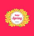 hello spring season time sales season banner vector image