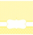 White dots on yellow background invitation vector image