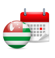 Icon of National Day in Abkhazia vector image