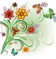 spring bright background vector image vector image