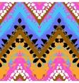 Multicolor hand drawn pattern zigzag vector image
