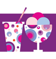 sundae and soft drink vector image