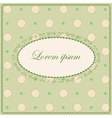 Background with polka dot and clovers vintage vector image vector image