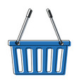 basket shopping empty market commerce business vector image