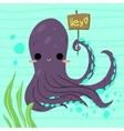 Cartoon funny octopus flat icon vector image