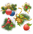christmas decorative elements vector image