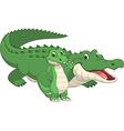 crocodile with cub vector image
