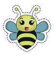 cute bee kawaii character vector image