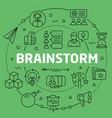 linear brainstorm vector image