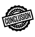 Conclusion rubber stamp vector image