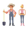 farmers family characters vector image vector image