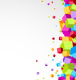 Colorful cubes aside - festive background vector image
