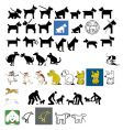 dog signs vector image