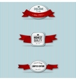 red retro premium badges vector image