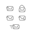 Mail set icons vector image