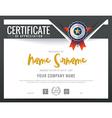 Modern certificate triangle shape background frame vector image
