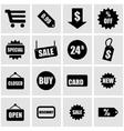 black shopping icon set vector image