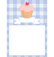 Blue restaurant menu card or baby shower list vector image
