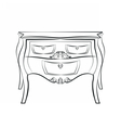 Classic table furniture with ornaments vector image