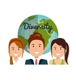 diversity concept design vector image