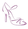 Elegant sketched woman s shoe vector image