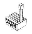 factoy building 3d vector image