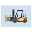 Forklift with paper roll clamp vector image