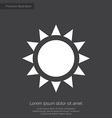 sun premium icon white on dark background vector image