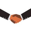 Two Diversity Businessmen Shaking Hands Design vector image