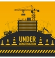 Under Construction Silhouettes Design vector image