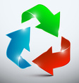 Arrow Red Green and Blue 3D Arrows in Endless vector image