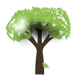 Green Oak Silhouette of a tree vector image