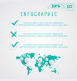 checklist with map vector image