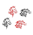 Tribal horses vector image vector image