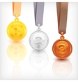 Sports Medal Awards vector image