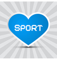 Love Sport Theme with Blue Paper Heart on Retro vector image vector image