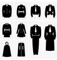 Military uniforms vector image