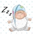 Sleeping Sheep vector image vector image